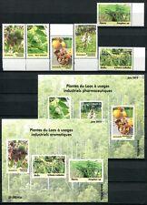 Laos Lao 2010 Heilpflanzen Medicinal Plants 2161-2166 + Block 220-221 ** MNH RAR