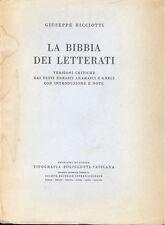 Ricciotti: La bibbia dei letterati