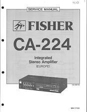 Fisher Original Service Manual für CA- 224