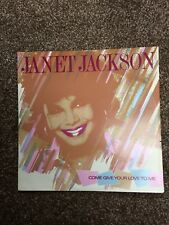 """Janet Jackson Come Give Your Love To Me rare 12"""" Single"""