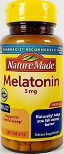 Nature Made Melatonin 3 mg, 240 Count Tablets -Expiration Date 03-2024