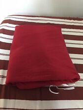 LL Bean Heritage Chamois King Comforter Cover Duvet Red EUC