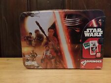 NEW STAR WARS Dominoes Game 28 Pack Lunch Box Tin Case Handle Container
