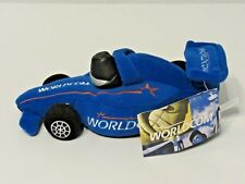 WORLDCOM Plush Race Car Advertisement With Tag