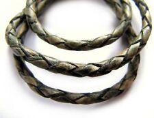 Lederband, 1 m, 3 mm, antikgrün