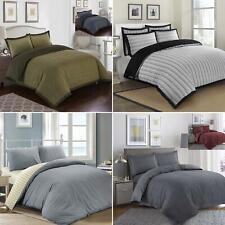 Luxury 100% Cotton Woven Quilt Duvet Cover Pillowcase Bedding Bed Linens Set