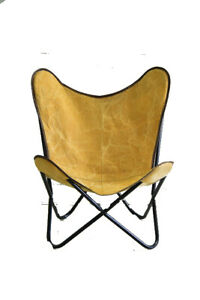 Yellow Pizza Sauce Chair Iron Stand With Leather Cover for Indoor Outdoor