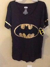 Ladies Batgirl Worn Logo DC Comics T Shirt  XLarge 15-17 The Dark Knight Batman