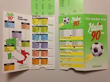 RARE CALENDRIER PROMO CETELEM WORLD CUP ITALIA 90