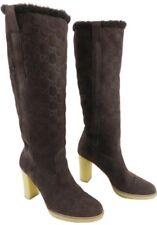 Orig. Gucci Monogramm Lammfell Fur Shearling Stiefel Boots 9 40 Braun Brown 850€