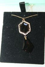 Alexis Bittar Necklaces gold tone encrusted faceted  stone  women's