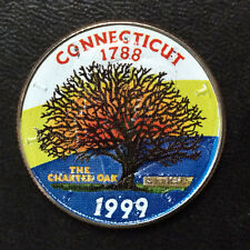 1999-D Connecticut Statehood Commemorative Half with Painted Obverse A5709