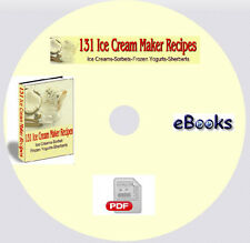 131 Ice Cream Maker Recipes on CD with Resell Rights