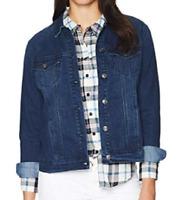 Gloria Vanderbilt Women/'s Roxy Knit Jacket Astaire Wash