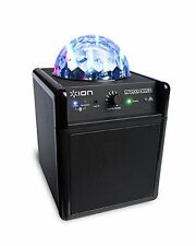 Bluetooth Portable Party Speaker Multi-Color LED Lights with Disco Ball AUX-IN