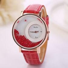 HOT Fashion Womens DRESS Watches Crystal Rhinestone Leather Quartz Wrist watch