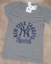 NEW MLB NY New York Yankees T Shirt Women Ladies L Large 5th&Ocean Tri Blend NWT