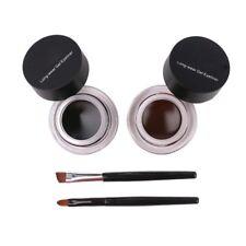 2in1 Coffee + Black Gel Eyeliner Waterproof Cosmetic Eye Liner Makeup Delineador