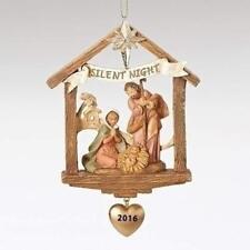 Fontanini Holy Family 2016 Stable Christmas Ornament