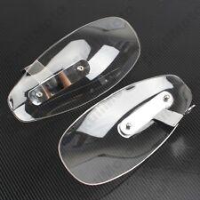 Clear Motorcycle Bike Hand Guard Wind Deflector Shield Chopper Cruiser Custom