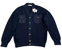 Brunello Cucinelli Cotton Cardigan Knitwear Strickjacke Jacke Jacket Pullover 50