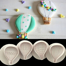 4pcs/set Hot Air Balloon Cake Cookies Biscuits Stamp Plunger Cutter Baking Mould