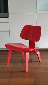 Vitra Eames LCW red plywood lounge chair