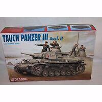 DRAGON TAUCH PANZER III AUSF H GERMAN TANK 1/35 SCALE PLASTIC MODEL KIT