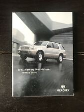 2004 Mercury Mountaineer Owners Manual OEM Free Shipping
