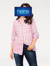 Streifenbluse Long-Bluse B.C. Best Connection. Viskose, Pink/ecru. NEU!!! %SALE%