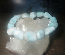 BEAUTIFUL A GRADE LARIMAR DOLPHIN STONE CRYSTAL BRACELET DOMINICAN REPUBLIC