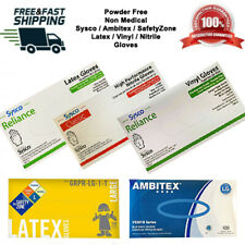 Latex/Nitrile/Vinyl Gloves S / M / L / XL Powder Free Sysco / Ambitex / SafeZone