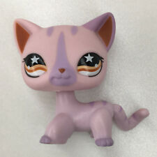 Littlest Pet Shop LPS#933 Cat Pink Siamese Kitty Tabby Tail Hasbro Birthday Gift