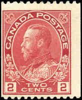 Mint NH Canada 1915-24 2c Coil F Scott #132 KGV Admiral Stamp
