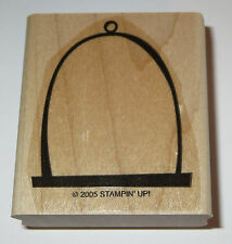 Bird Cage Swing Rubber Stamp Stampin' Up! Retired Pets Animals Wood Mounted