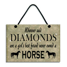 Whoever Said Diamonds Are A Girl's Best Friend Never Owned A Horse Gift/Sign 550