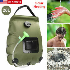 5 Gallons 20L Solar Heating Camping Shower Bag Water Heater Outdoor Camp Hiking