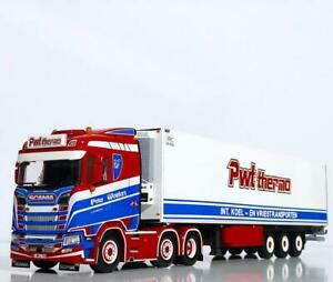 """Scania S normal CS20N 6x2 reefer trailer """"PWT Thermo"""" WSI truck models 01-3383"""