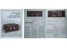 CROWN PS-400 AMPLIFIER BROCHURE (1982)