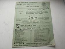TARIF André RAY LYON Fournitures Bureau GYPSO pour machine à écrire 1924