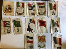 New listing 13 Vtg Early 1900's Lot Tobacco Silks Nebo Zira Cigarettes Country Flags