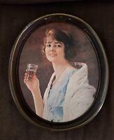 VTG 1973 Coca Cola Oval Collectible Tray With Gibson Girl 1920's Artwork Vintage