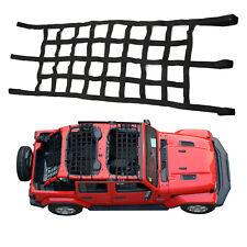 Roof Cargo Net Back Window Extra Storage Hammock for Jeep Wrangler TJ JK 97-2018