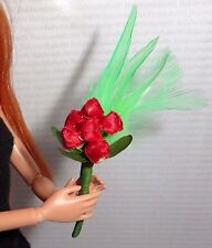 ACCESSORY ~FRANCIE DOLL TEENAGE BEAUTY RED ROSE BOUQUET REPRO #1284 FOR DIORAMA