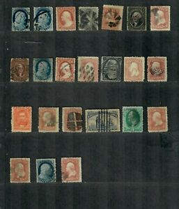 US 19th Century Used Stamp Collection Mixed Condition Huge C.V.