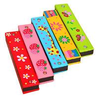 Best Wooden Harmonica Musical Instrument Educational Toy Kid Children Xmas Gift