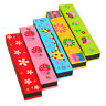 Best Wooden Harmonica Musical Instrument Educational Toy Kid Children Xmas Gift
