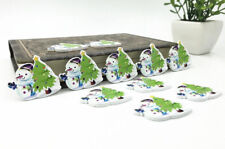 20pcs Christmas Tree snowman Wooden Buttons Sewing scrapbooking decoration 34mm
