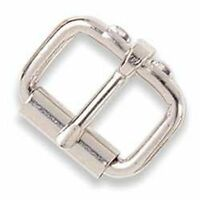 """Roller Buckle 1"""" (2.5 cm) Nickel Plated Tandy Leather Item 1516-02"""