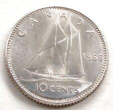 CANADA 10 CENTS 1966 Siver KM#61 Elizabeth II. SS1.5